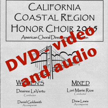 ACDA Coastal Honor Choir DVD 2015